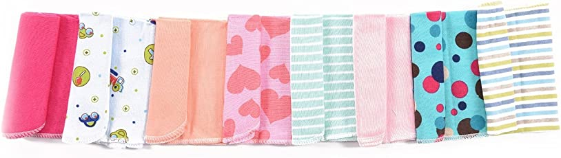 Gerber Cotton Wash Cloth Napkin 8 Pack (Multi Print)