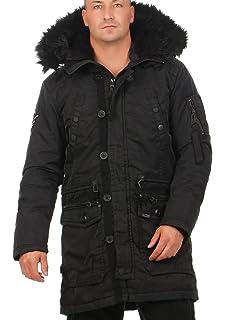 khujo Herren Melek Military Puffer Jacke: : Bekleidung