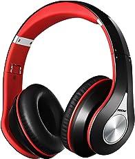 Bluetooth Kopfhörer Mpow over Ear Headset, over Ear Headset mit 20 Stunden Spielzeit, CVC 6.0 Noise Canceling, Stereo Wireless Headset & Integriertem Mikrofon Freisprechen, Rot