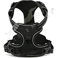 Pets Empire Padded Easy Fit Dog Chest Harness Car with Front Clip Adjustable Soft Mesh Handle for Large Dogs, Medium…