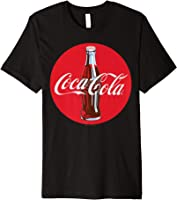 Coca-Cola Red Circle Retro Bottle Logo Graphic T-Shirt