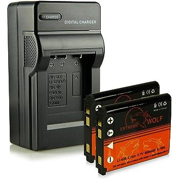 Caricatore + 2x ExtremeWolf Batteria NP-45 per Fujifilm FinePix J10   J12   J15   J15 fd   J20   J25   J26   J27  J28   J29  J30  J32   J37   J38   J100   J110w   J120   J150w   J210   J250   JV100