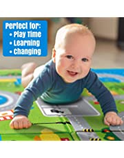 Owme Double Sided Water Proof Baby Mat Carpet Baby Crawl Play Mat Kids Infant Crawling Play Mat Carpet Baby Gym Water Resistant Baby Play & Crawl Mat(Large Size - 6 Feet X 5 Feet)