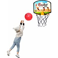 Sarvda Basket Ball for Kids Portable Set with Hanging Board, net, Ball Indoor and Outdoor Game Good Pastime Gift Set