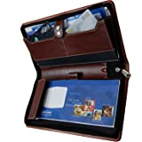 Pareek Brown Expendable Passbooks And Cheque Book Holder/Document Holder/Cards All In One
