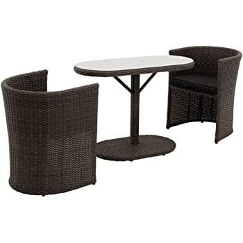 Balkonmöbel set rattan  Amazon.de: OUTLIV. Balkonmöbel Set Rattan Breakfast Balkonset 3-tlg ...
