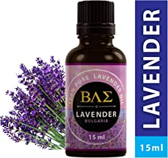 BAE Lavender Essential Oil (Bulgarian) - 100% Pure, Steam Distilled, Therapeutic Grade for Relaxation, Sleep, Tension Relief, Hair Growth, Skin Care - (15ml)