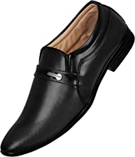 Emosis Men's Stylish 0293 Tan Brown Black Colour Office Party Wear Formal Moccasin Slip-On Shoe