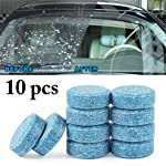 Fansport 10PCS Car Cleaning Tablet Concentrated Auto Glass Cleaner Effervescent Tablet