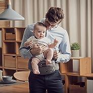 Bebamour Portabebé plegable Asiento de cadera Asiento ergonómico para la cintura de niños pequeños de 0 a 36 meses Mochila po