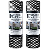"""DII Non Adhesive Cut to Fit Machine Washable Shelf Liner Paper For Cabinets, Kitchen Shelves, Drawers, Set of 2, 12 x 10"""" - B"""