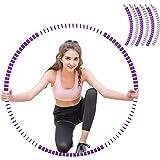 Sunshine smile Hoelahoep, fitness hoelahoep voor gewichtsvermindering en massage, fitness hoelahoepband, gymnastiek circuit,