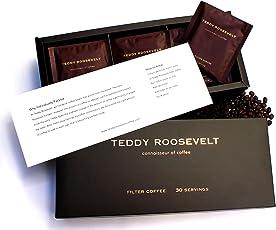 Teddy Roosevelt 100% Arabica Luxury Filter Coffee, 30 Servings, 360g
