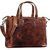 STILORD 'Claire' Businesstasche Damen Leder 15 Zoll Laptoptasche DIN A4 Aktentasche Umhängetasche und Handtasche Büro, Farbe: