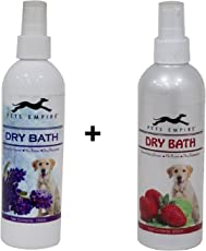 Pets Empire Dry Bath Dog Lavender and Strawberry Shampoo, 250ml (Pack of 2)