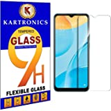 Kartronics Compatible with Oppo A15 Premium Tempered Glass Screen Protector Slim 9H Hard 2.5D with Full Installation Kit and