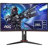AOC Gaming C27G2ZE - Monitor curvo FHD da 27 pollici, 240 Hz, 0,5 ms, FreeSync Premium (1920 x 1080, HDMI, DisplayPort) nero/