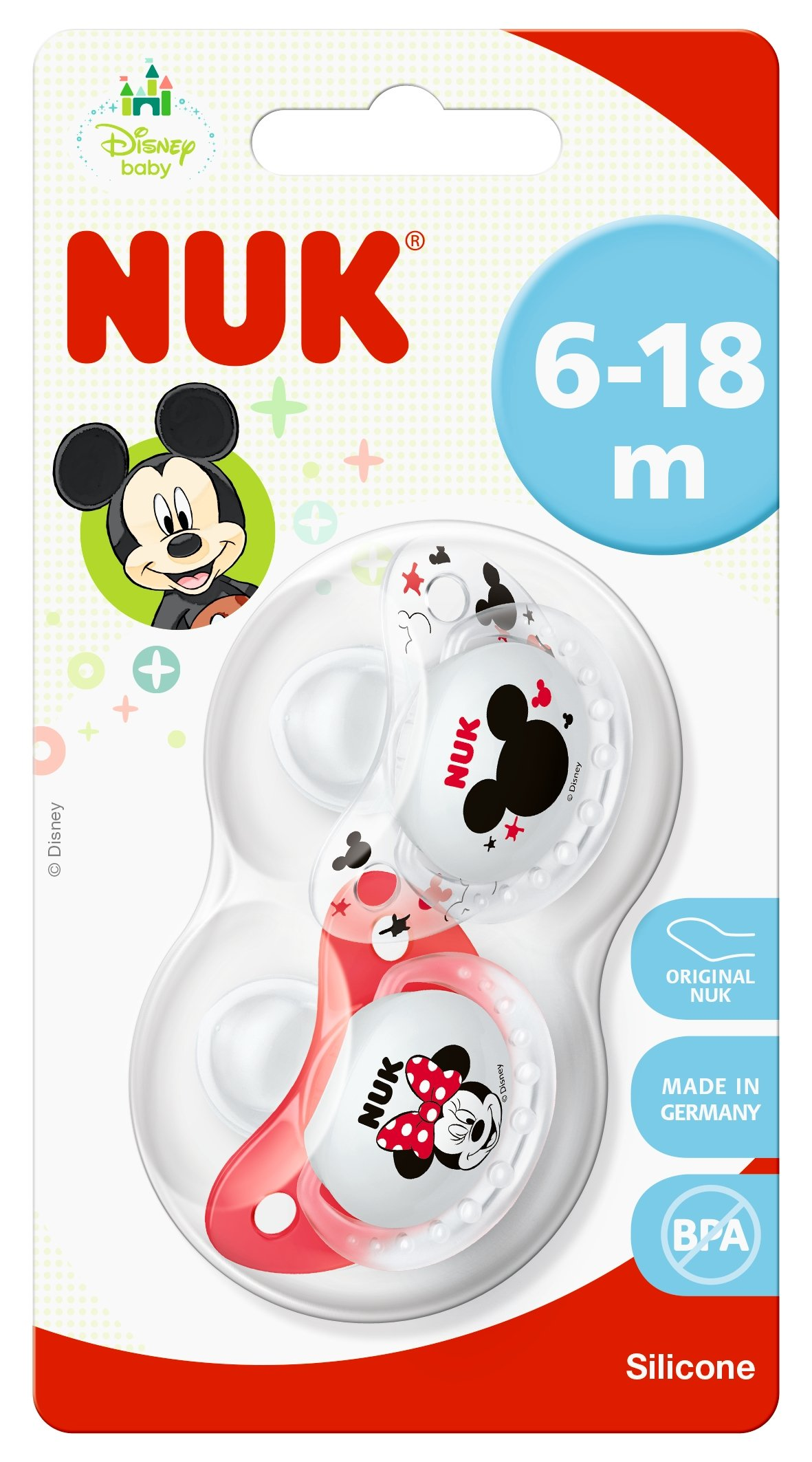 6-18 Months Soother /& Sippy Cup Set NUK Disney Baby Bottle Minnie Mouse Design 2 Soother Dummies /& 2 Silicon Bottle Teats 1 Sippy Cup with 2 Baby Bottles