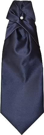 Remo Sartori - Cravattone Plastron Cravatta Sposo Cerimonia in Seta Tinta Unita, Made in Italy, Uomo