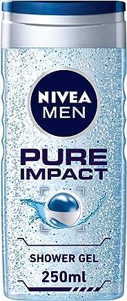 NIVEA, MEN, Shower Gel, Pure Impact, 250ml