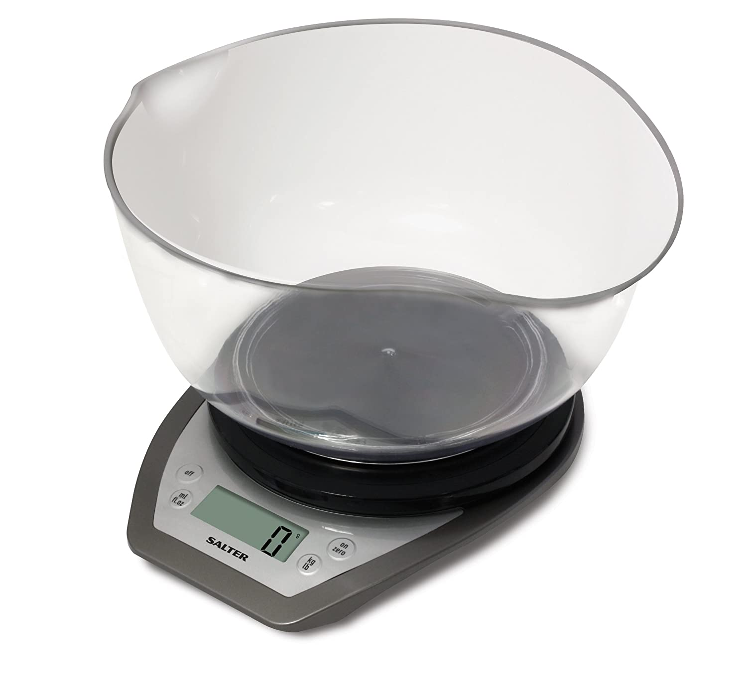 Superior Salter Digital Electronic Kitchen Scales   2 Litre Dual Pour Mixing Bowl,  Perfect For Cooking, Baking, Food / Liquid Weighing, Easy Read Display, ...