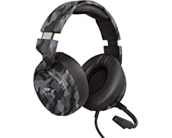 Trust Cascos Gaming GXT 433K Pylo Auriculares Gamer con Micrófono Plegable, Altavoces Activos de 50 mm, Cable Trenzado, para