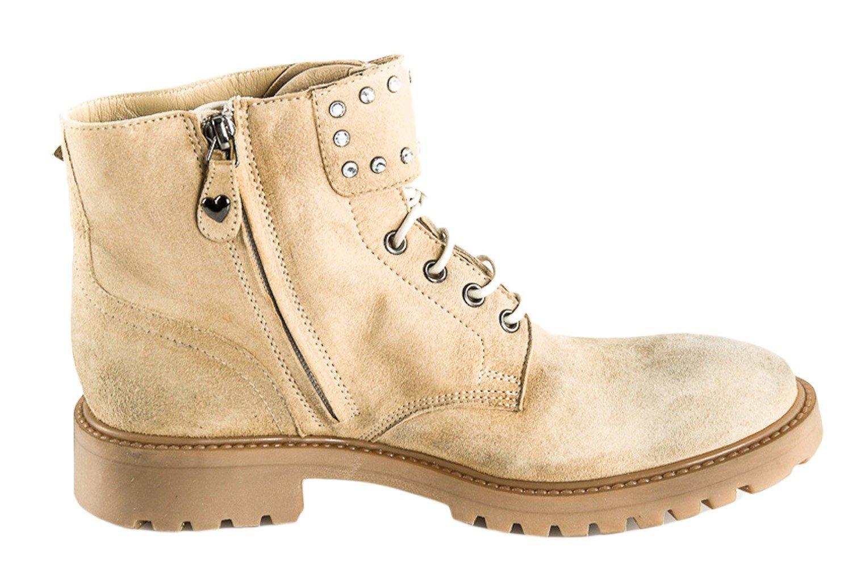 Scarpe donna TWIN-SET SIMONA BARBIERI stivali beige in pelle N.35 X2282