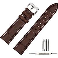 TStrap Orologi Cinturino Pelle 20mm - Cinturini in pelle di Vitello Nero per Uomo Donna – Cinturino Sportivo di Ricambio…