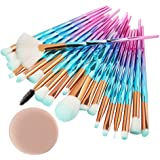 99native 20 Pcs/Set Maquillage Brush Set Makeup Brushes Kit Outils Maquillage Professionnel Maquillage Pinceaux Yeux Pinceau pour Les +1Pc Houppettes à Poudre