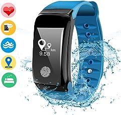 DAMIGRAM Fitness Tracker, Orologio Fitness Activity Tracker Cardio Impermeabile IP67 Bluetooth 4.0 Smartband Bracciale Braccialetto Donna Uomo Fitness Sport Watch per iOS Android Smartphones
