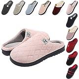 incarpo Pantofole Donna Memory Foam Ciabatte Inverno Peluche Vello di Corallo Antiscivolo Caldo da Casa Interno Esterno Panto