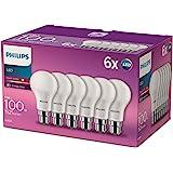 Philips ampoule LED Standard B22 100W Blanc Chaud Dépolie, Lot de 6