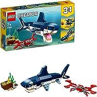 LEGO 31088 Creator Les créatures sous-Marines: Requin, Crabe et calmar, Set de Construction 3 en 1, pour Enfants de 7…