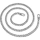 Vordas Catena Borse in Metallo Cinghie, Generic Sostituzione Sacchetto Catena con Fibbie per Borsa a Spalla da Donna (Argento