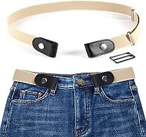 MOGOI Ceinture extensible sans boucle pour les femmes/hommes, mode respirer confortablement ceinture élastique sans...