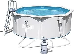 Bestway Hydrium Pool Set, rund, mit Sandfilteranlage, Leiter und Bodenplane, weiß, 360 x 120 cm
