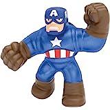 Goo Jit Zu- Coffret sous Licence Officielle héros Marvel, Figurine-Captain America, 36905, Bleu