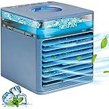 Raffreddatore Portatile, Micacorn Personale Condizionatori, 4 in 1 Air Cooler USB Ventilatore Evaporativo Umidificatore D'ari
