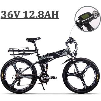 eBike_RICHBIT 860 hombres bicicleta eléctrica plegable 17 X 26 pulgadas bicicleta de montaña suspensión total 250