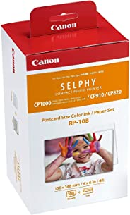 Canon. RP-108 Color Ink/Paper Set, Compatible with SELPHY CP910/CP820/CP1200/CP1300 (Limited Edition)