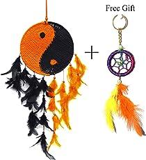 Odishabazaar Wall Hanging Crochet Dream Catcher - Pattern: Yin Yang (LengthXDia : 45cm x 15cm)