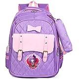 Tinytot Designer Hi Storage School Backpack School Bag for Girls (Purple) 25 L