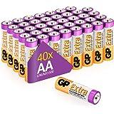 Piles AA - LR6 - Lot de 40 |GP Extra|Batterie Alcalines 1,5v Longue durée