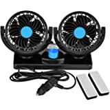 Towinle Car Fan, Auto Cooling Fan, with 2 Fan Speeds and 360 Degree Rotation, Adjustable Fans for Pet Dog, Traveling Fan…