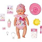 BABY Born 827956 Mjuk beröring flicka 43 cm med magisk napp – realistisk docka med verklighetstrogna funktioner – mjuk vid be
