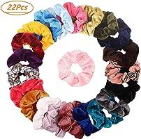 20pcs pelo Scrunchies Terciopelo elástico pelo bandas Scrunchy pelo Ropes Scrunchie para mujeres o niñas pelo accesorios...