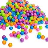 Eyepower LittleTom 50 x Balles 5,5 cm colorées de Piscine balles de Jeux Couleur Pastel