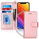 Fyy iPhone XR Case, Flip Leather Wallet Phone Case Protective Shockproof Cover with [Card Holder][Kickstand Function] for App