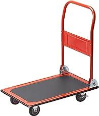 Meister Plattformwagen - Klappbar - Bis 150 kg Tragkraft - Feststellbremse/Transporthilfe mit Lenkrollen/Paketwagen mit Antirutsch-Beschichtung/Klappwagen aus Stahl / 8985400