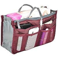 Multi-function Handbag Organizer Multi-Pocket Travel Cosmetic Insert Organizer Purse Large Liner Tidy Bag for Women Ladies Girls by SamGreatWorld